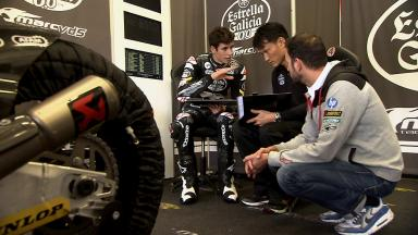 Alex Marquez's first day as a Moto2™ rider