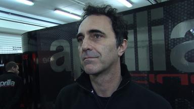Very positive test for Aprilia says Romano Albesiano
