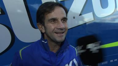 Suzuki's Davide Brivio evaluates early work of new riders