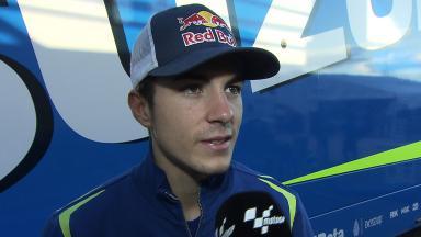 Maverick Viñales nach erstem Suzuki MotoGP™ Test begeistert