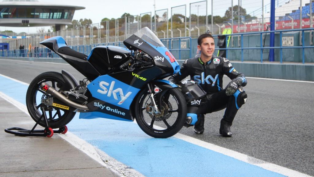 Andrea Migno, Sky Italia, Jerez Test