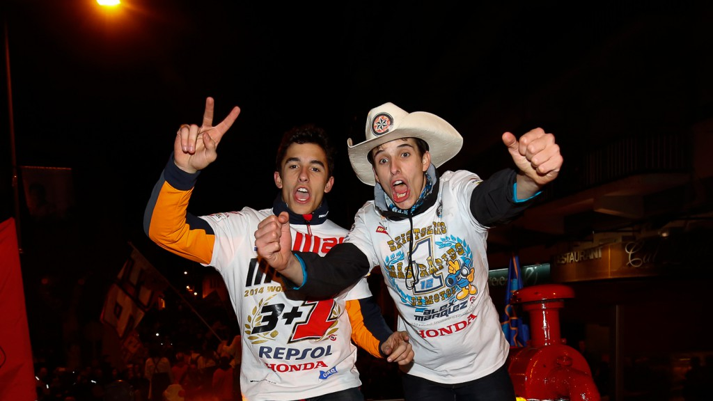 Alex & Marc Marquez Titles Celebration in Cervera, Spain