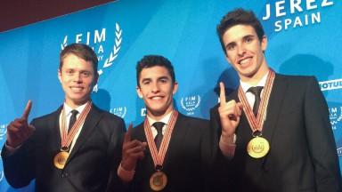 Esteve Rabat, Marc MArquez, Alex Marquez, 2014 FIM Gala Ceremony