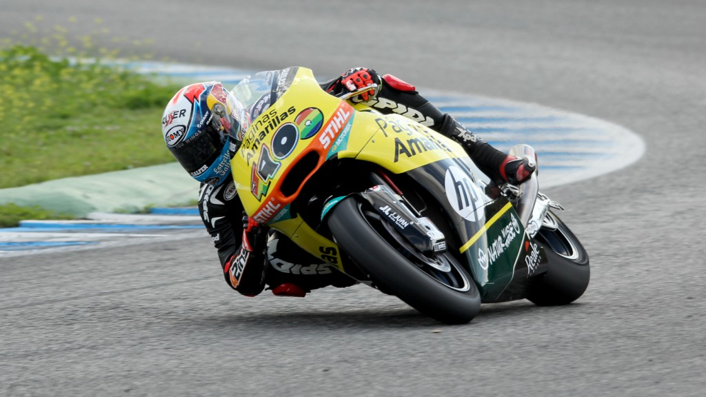 Alex Rins, Paginas Amarillas HP 40, Jerez Test