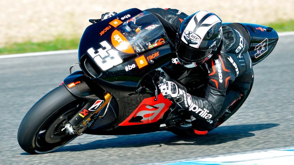 Marco Melandri, Factory Aprilia Gresini, Jerez Test