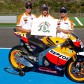 The Repsol Honda team riders support Honda Safety's activities