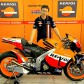 Mike Leitner on Dani Pedrosa's Honda prototype
