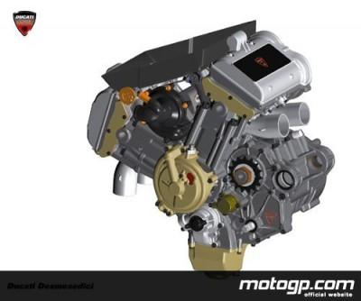 Ducati correrá en MotoGP con un motor de 4 tiempos y 4 cilindros llamado Desmosedici Twinpulse