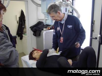 Tetsuya Harada se rompe la clavícula izquierda en Estoril