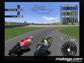 The new version of MotoGP game for the Playstation 2 arrives