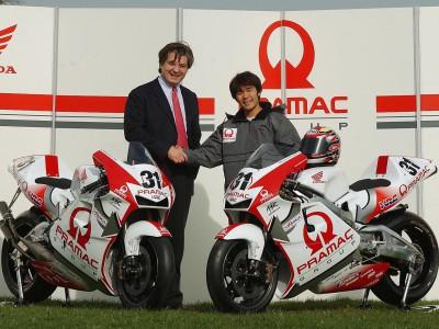 Official presentation of the Pramac Team Honda takes place near Siena, Italy
