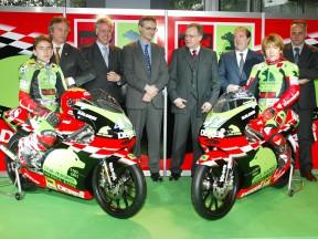 El equipo Derbi se ha presentado en Barcelona con sus pilotos Youichi Ui y Jorge Lorenzo