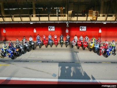 First official group photo of MotoGP World Championship riders