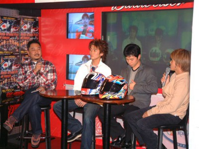 Japanese MotoGP riders attend ´2002 Party´ in build up to season