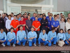Yamaha riders visit headquarters and factory