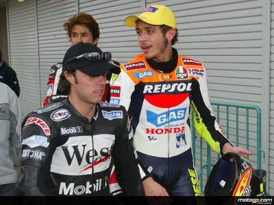 Rossi décroche la première pole en MotoGP lors d´une séance animée