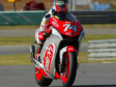 Capirossi and Katoh put their NSR500s at the head of the MotoGP field