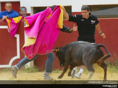 MotoGP riders enjoy a day out at estate of bullfighter ´Jesulin´