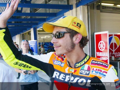Rossi secures his third consecutive pole of the season