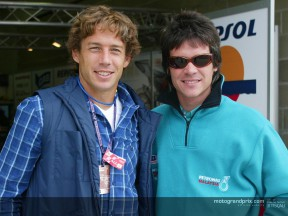 Rugby star Diego Dominguez appears in the MotoGP paddock