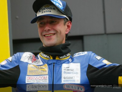 Stephane Mertens wins the BMW Boxer Cup race in Assen