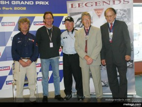 Phil Read and Geoff Duke honoured at Donington