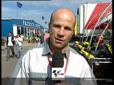 Randy Mamola gives his thoughts on the Cinzano British Grand Prix