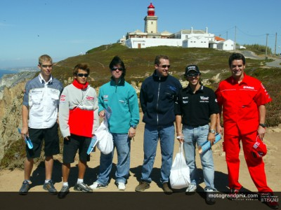 MotoGP riders turn tourists in the Portuguese sunshine