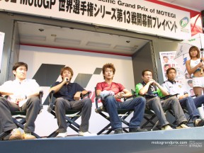 Japanese riders attend Gauloises Pacific Grand Prix of Motegi presentation