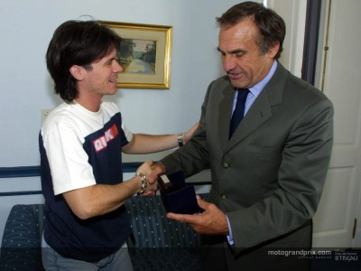Sebastián Porto visits Carlos Reutemann after winning in Rio