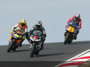 Rossi takes 50th GP win ahead of Barros