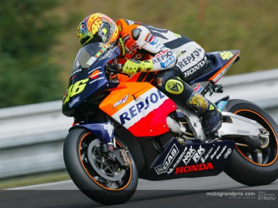 Valentino Rossi in the footsteps of Mick Doohan