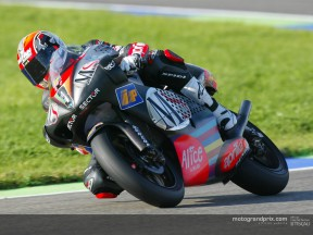 Marco Melandri maintains pole despite slower lap times