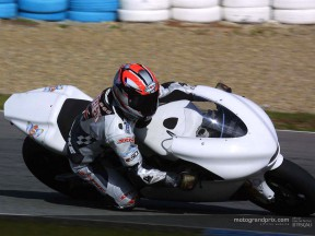 Capirossi riding in lap record time at Jerez