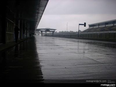 Rossi sceglie di non girare sotto la pioggia nella prima giornata di test a Jerez