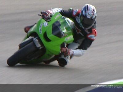 Garry McCoy back in action at Kawasaki Sepang test
