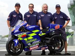 Garry Taylor prépare la reprise des essais du team Suzuki