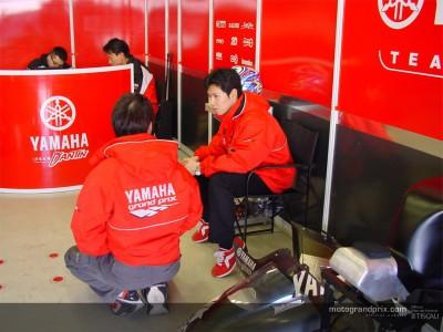Nakano deja una impresión muy positiva en el equipo Yamaha D´Antín tras el test en Valencia