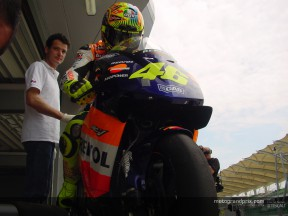 Valentino Rossi happy with changes to the RC211V