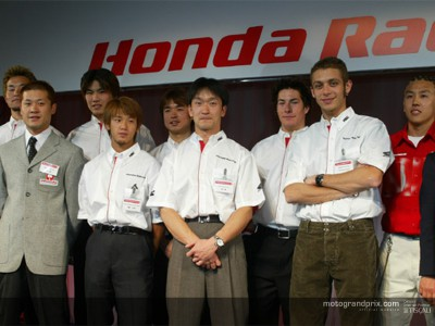 MotoGP riders in attendance at Honda´s official presentation in Tokyo