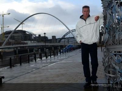 Chris Burns a twelve mile a day man