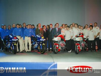 La presentazione di Fortuna Yamaha e di Gauloises Yamaha in Spagna.