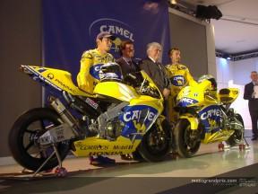 Il team Camel Pramac Pons e il team Telefonica Movistar Honda, hanno presentato le loro squadre a Barcellona