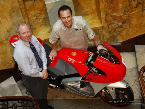 Proton Team KR unveil V5 motorcycle at MotoGP launch in London