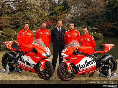 Ducati make the final presentation in the heart of Tokyo prior to the race in Suzuka