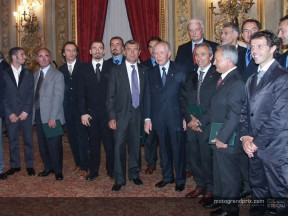 Italian Motorcycle Champions meet the president of Italy