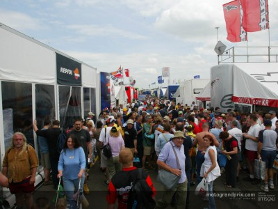 British crowd warm-up for the MotoGP weekend at Day of Champions