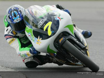 Perugini claims pole position for the 125 British Grand Prix