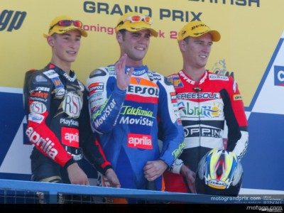 Quotes from the 250cc podium