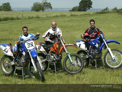 MotoGP stars learn a trick or two on the dirt